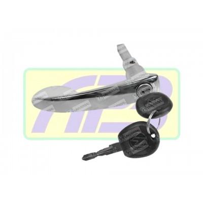 Maçaneta Externa Porta Lateral - Universal - 20452 - Kombi Clipper -  Preta C/ Chave