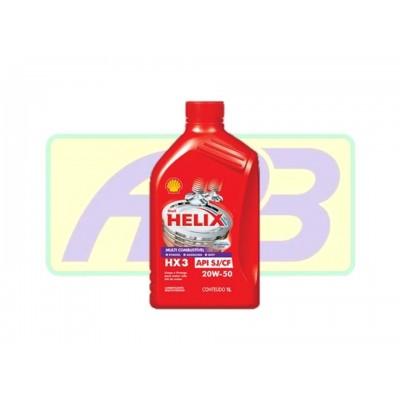 Óleo de Motor - Shell - Helix 20W-50   HX3 -  API SJ/CF - Mineral - 1LT