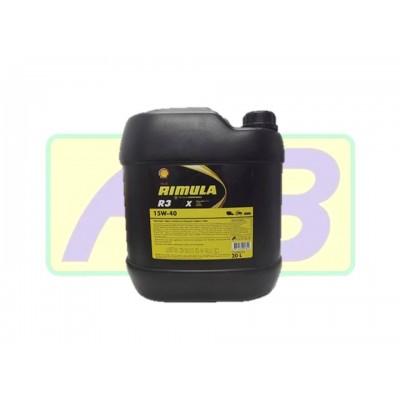Óleo de Motor - Shell - Rimula 15W-40  R3 X -20LT