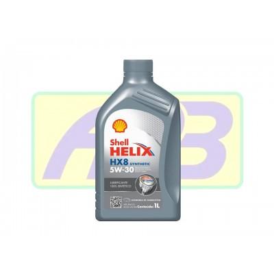 Óleo de Motor - Shell - Helix  5W-30 - HX8 -  100%  Sintético - 1LT