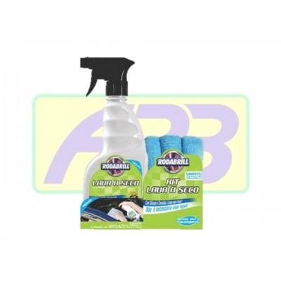 Lava a seco - Rodabrill - 500 ml com 3 toalhas de microfibra